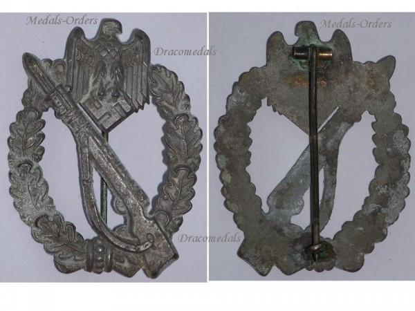 Nazi germany ww2 infantry assault badge silver waffen ss wehrmacht military badge german army - German military decorations ww2 ...