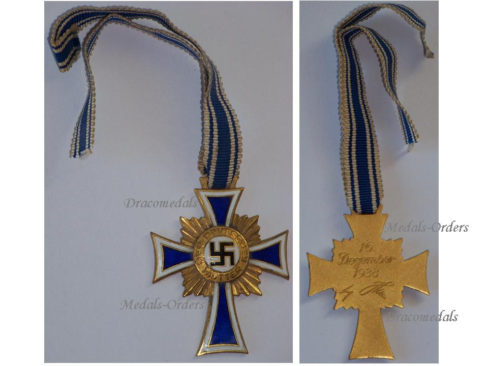 Nazi germany ww2 mothers cross 1938 gold 2nd type civil medal wwii 1939 1945 german military - German military decorations ww2 ...